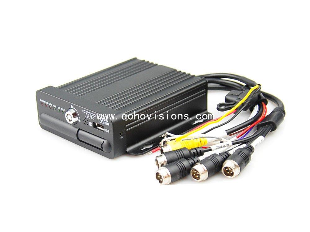 4-CH 1080P Single SD Card Mobile DVR