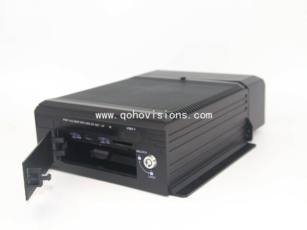 4 channel 720P HD HDD GPS 4G WIFI Mobile DVR(MDVR8104HR)