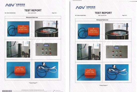 QOHO Car black box fireproof and waterproof test passed