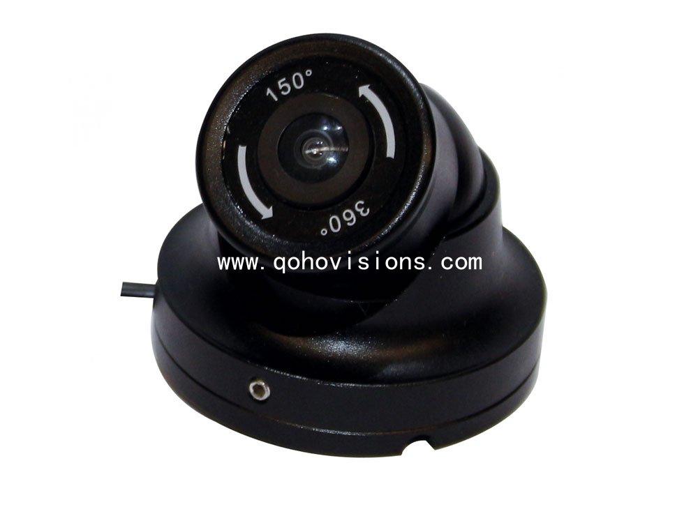 Mini Metal IR Car Dome Camera 150 degree / 360 degree with Fisheye, MC30F
