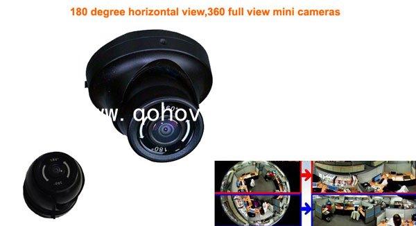 Metal Fish-Eye Car Ir Dome Camera 180 Degree / 360 Degree With Fisheye,MC60F