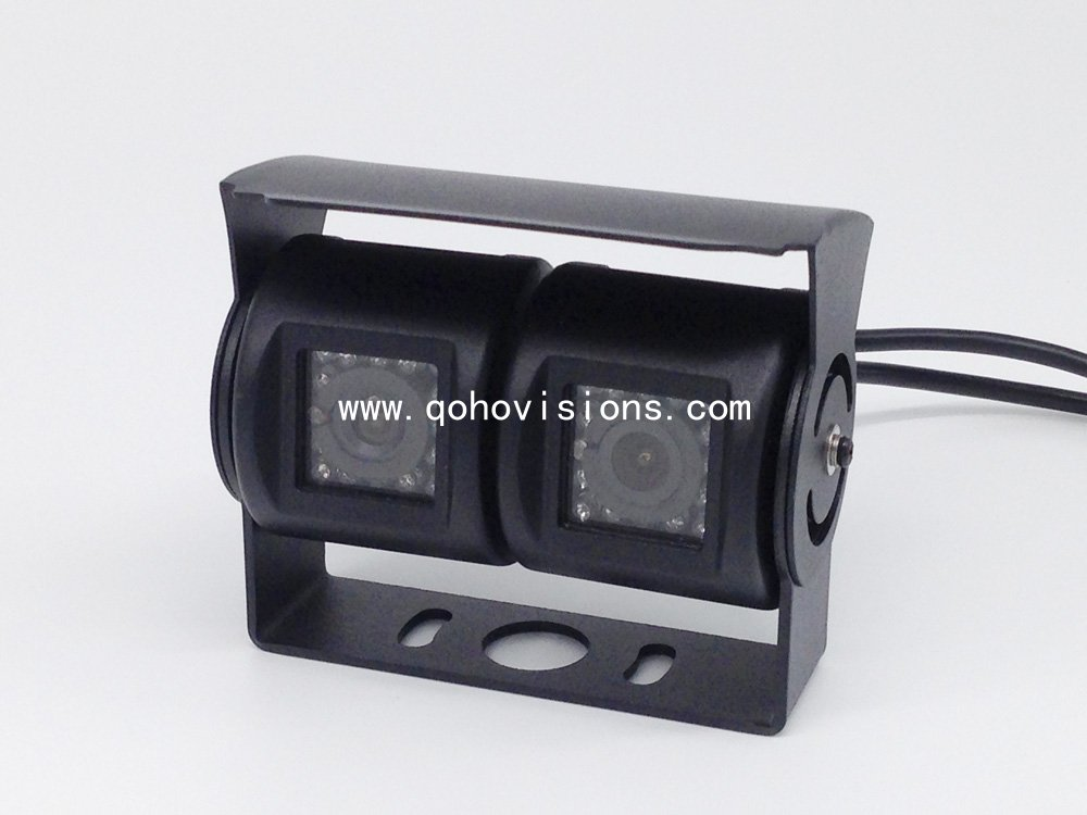 Car IR Night Vision Bus Backup Camera with Dual Lens, Reversing Cameras For Trucks, MC016D