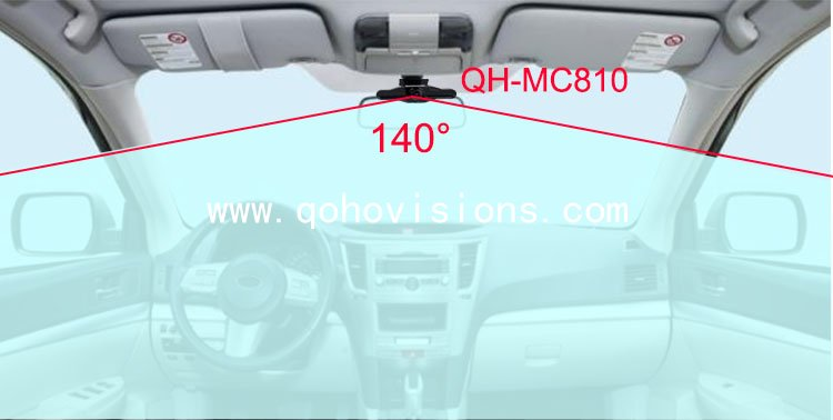 1080P AHD Dual Len Camera Front Road and Inside View