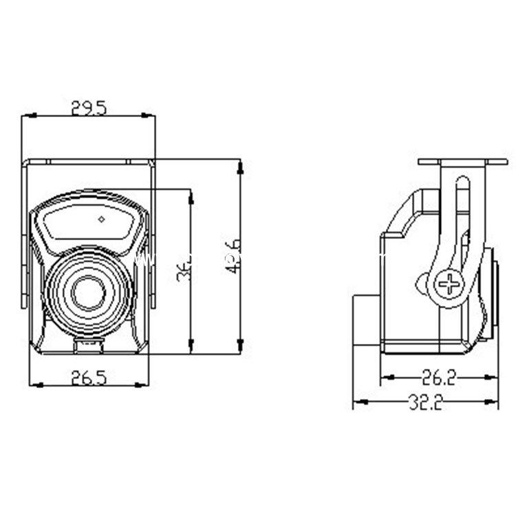 1080P AHD Mini Metal IR Box Camera Vehicle Inside View Camera