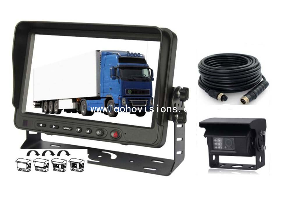 7inch rear view monitor with motor and Auto shutter rear view camera
