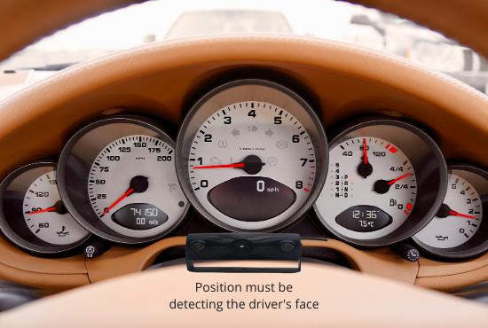 Driver Fatigue Monitor Position