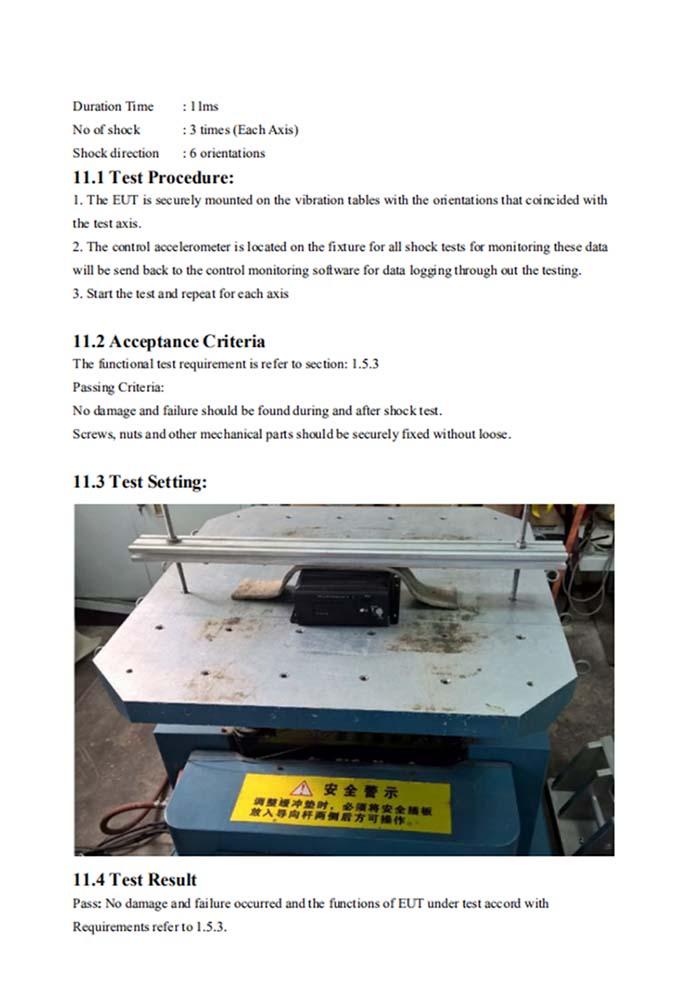 Mobile DVR EN50155 railway anti vibration test