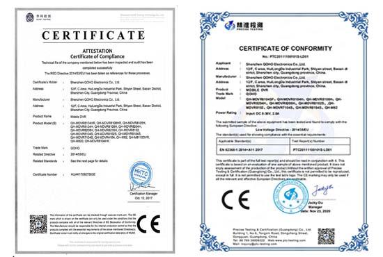 QOHO Mobile DVR CE IEC62638