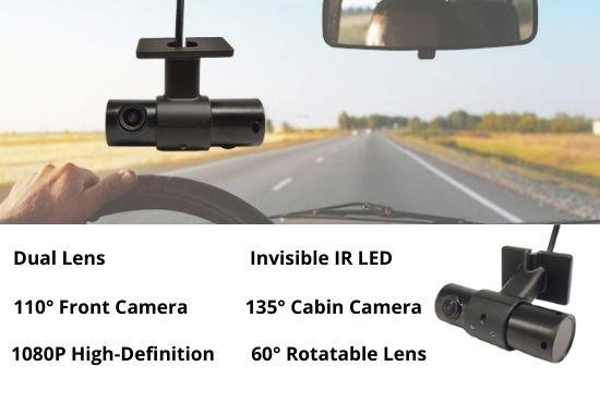 Dual lens Vehicle Camera